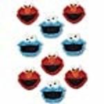 Wilton Wilton 710-3474 Sesame Street Edible Cupcake Toppers, Multicolor