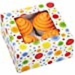 Wilton Wilton 415-0735 3/Pack 4-Cavity Circles Cupcake Box