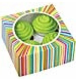 Wilton Wilton 415-0814 3/Pack 4 Cavity Color Wheel Cupcake Box