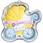 Wilton PartyintheMail.com Novelty Cake Pan-Baby Buggy Silver 11.25x11.25x2