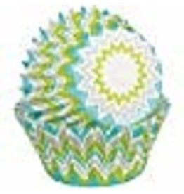 Wilton Wilton Baking Cups, Mini, Lime Chevron, 100-Pack