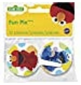 Wilton Wilton 2113-3470 12 Count Sesame Street Cupcake Toppers, Multicolor