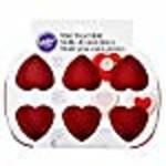 Wilton 6 CAVITY SILICONE HEART MOLD