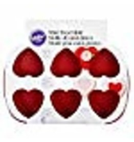 Wilton Wilton Mini Silicone Heart Mold, 6-Cavity Mold for Heart Shaped Cookies and Candy