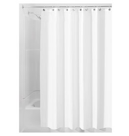 Interdesign InterDesign Fabric Waterproof Shower Curtain Liner, White