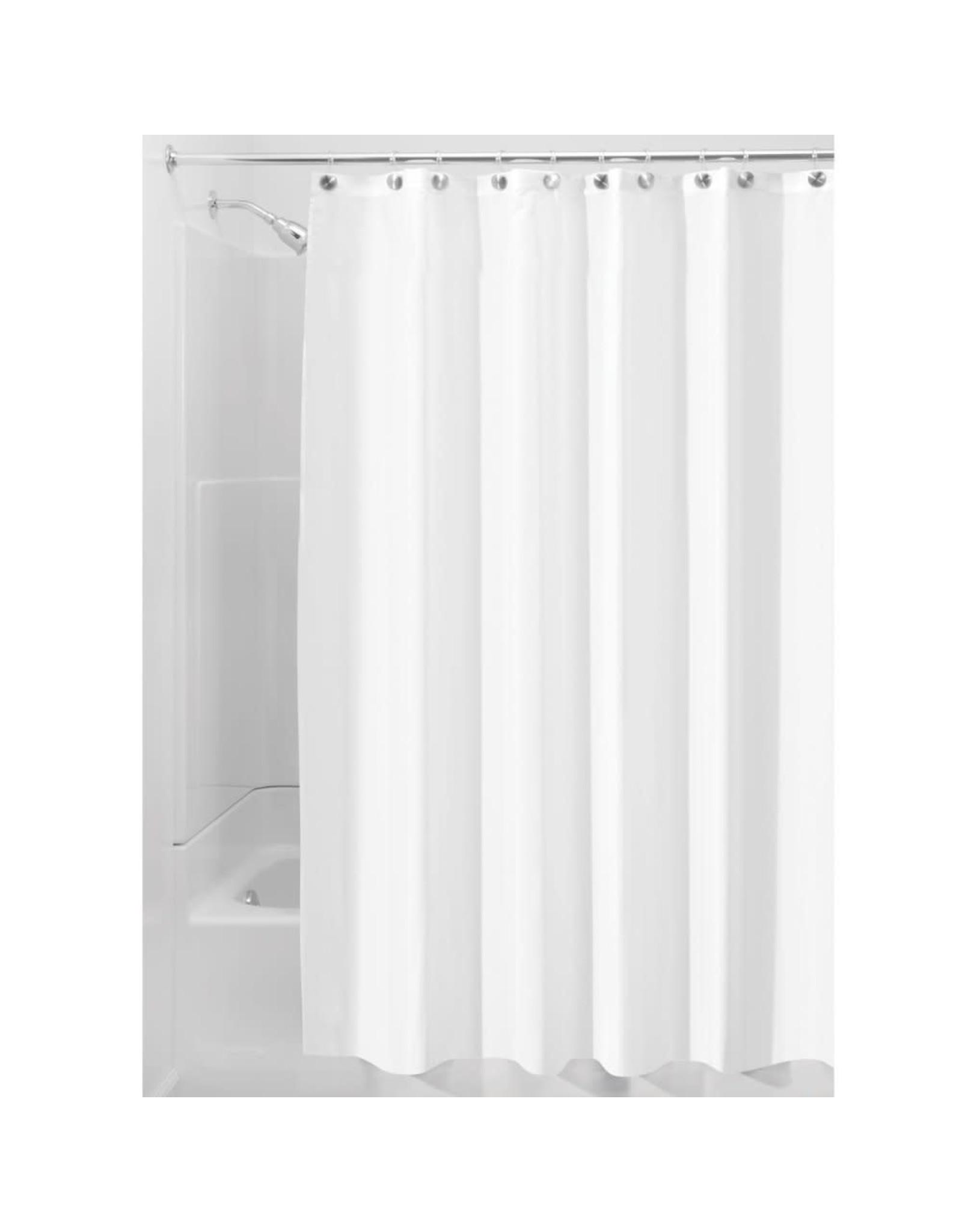 Interdesign InterDesign Fabric Waterproof Shower Curtain Liner, White