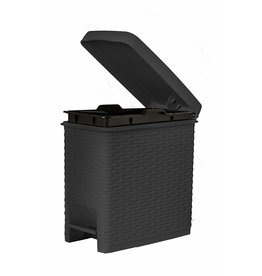 Grey 6.5 QT. Slim Pedal Trash Can