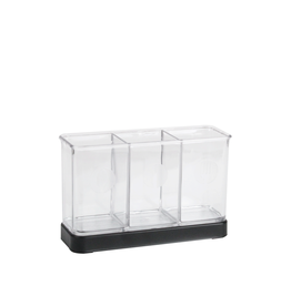 Interdesign 2 Flatware Organizer Matte Black/Clear