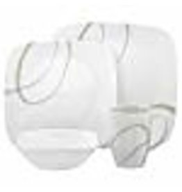 Corelle CORELLE SET SQUARE, SAND AND SKY Service For 4
