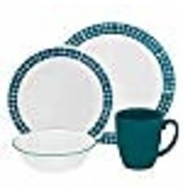 Corelle CORELLE SET CLASSIC, AQUA TILES Service For 4