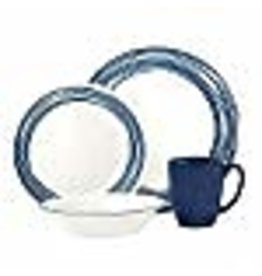 Corelle CORELLE SET ROUND, BRUSHED COBALT Service For 4