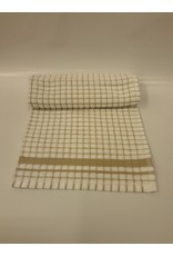 Beige Checkered Dish Towel