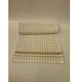 Beige Checkered Dish Towel