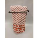 Roseberry White/Orange Dish Towel