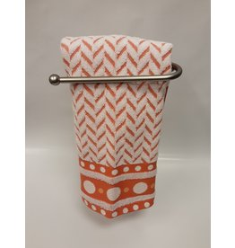 Roseberry White/Orange Dish Towel