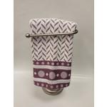 Dotty White/Lavender Dish Towel