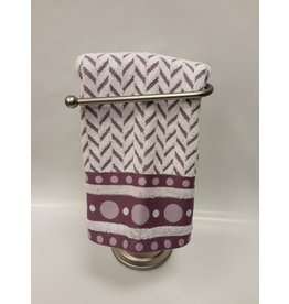Dotty White/Lavender Dish Towel