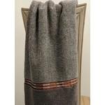 Metalic Grey & Orange Hand Towel