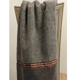 Metalic Grey & Orange Hand Towel