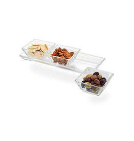 11916 Cortland 3-Section Glass Serving Tray