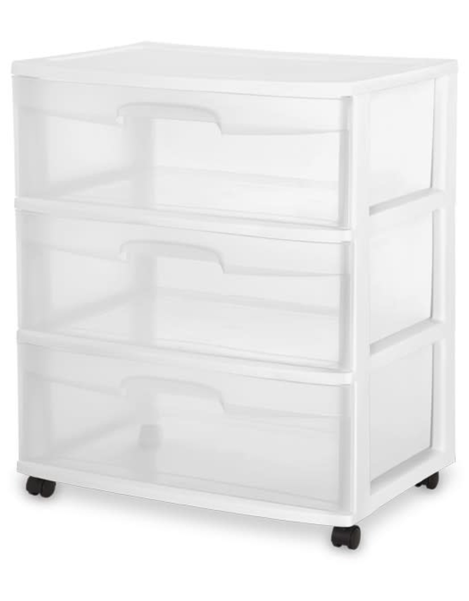 """DRAWER/CART-3 22"""" WIDE-WHEEL-CL/WH"""