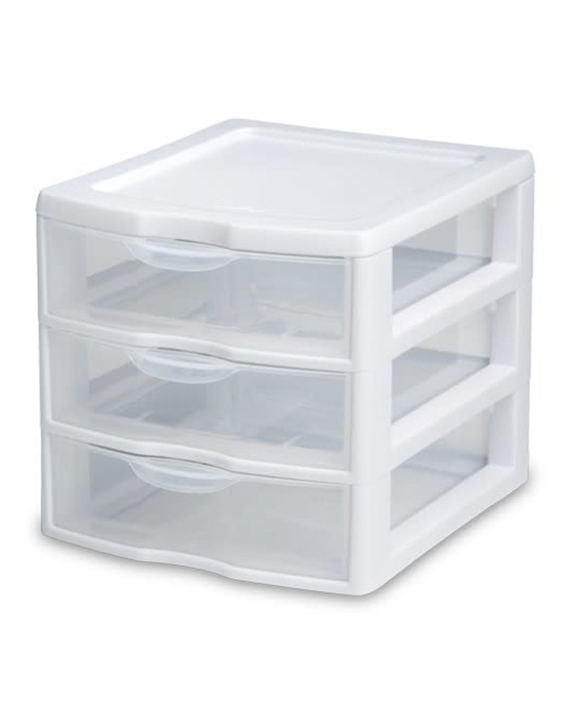 "DRAWERS-3 MINI 7-1/4"" WIDE WHITE"