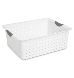BASKET-ULTRA-15L X12W X 6H WHITE