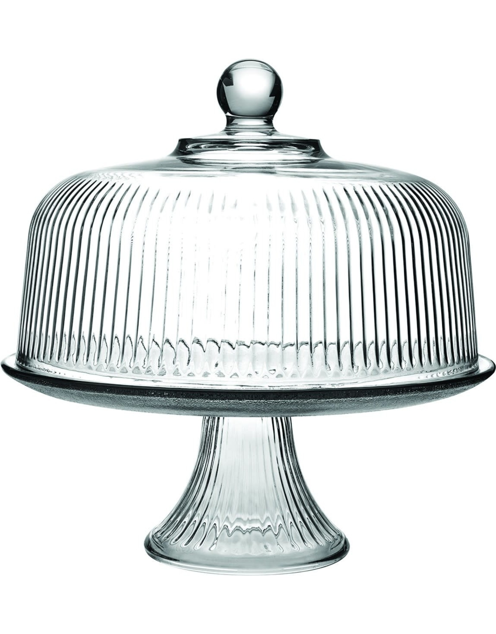 C860318HG18-TRI CAKE COVER-ON FOOTED PLATE-MONACO