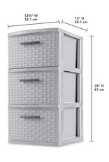 Drawer/Cart-3 Weave 12 Wide-Cement