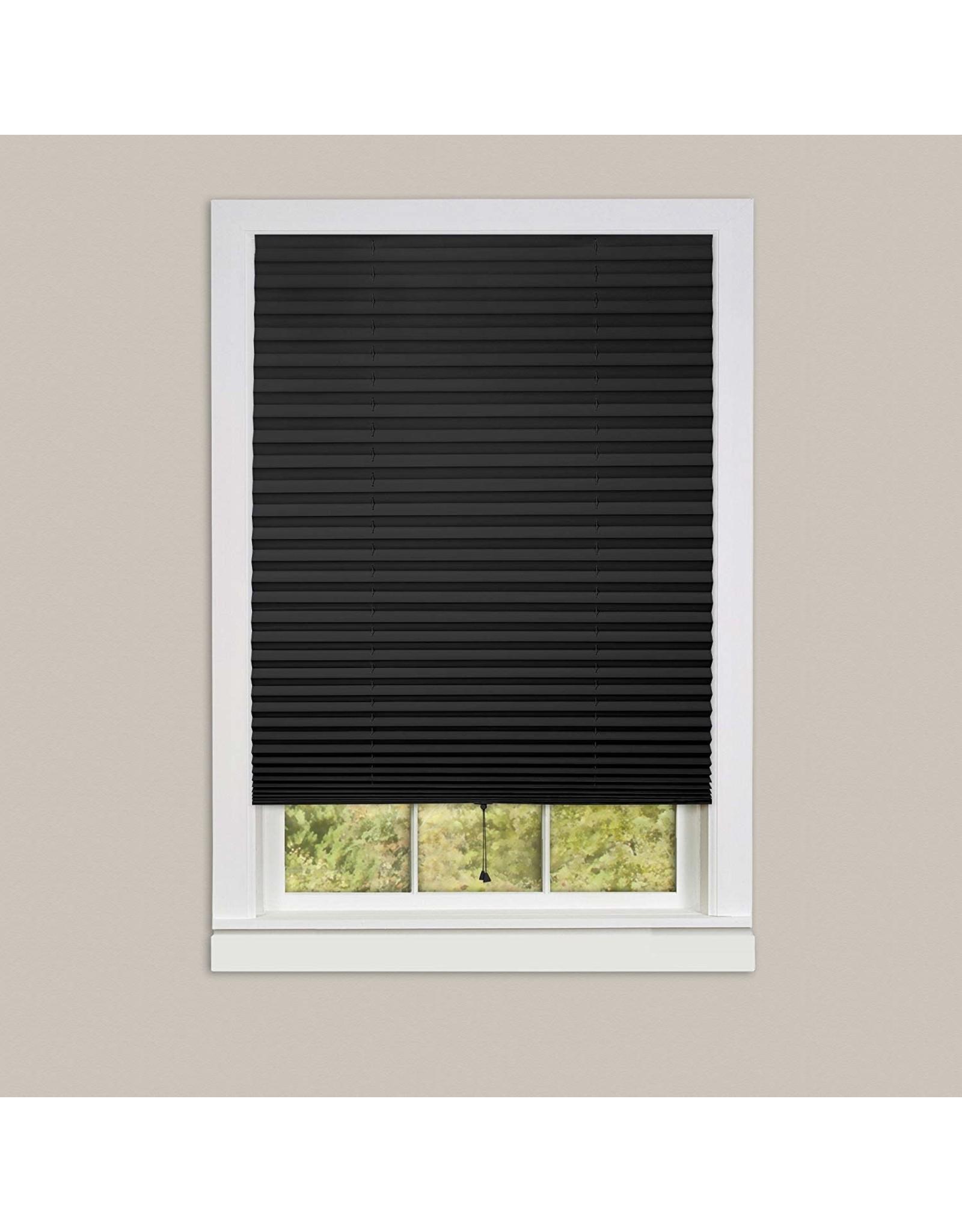 WINDOW SHADE-PLEATED-36x75-BLACK 123