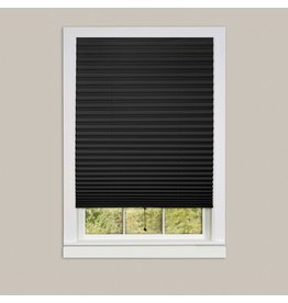 WINDOW SHADE-PLEATED-36x75-BLACK 123