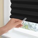 WINDOW SHADE-PLEATD-48x75-BLACK-123