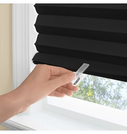 WINDOW SHADE-PLEATD-48x75-BLACK-123