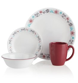 Corelle Nordic Blooms Service For 4