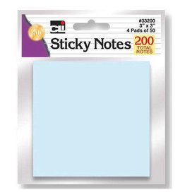 4 Color Assorted Sticky Notes