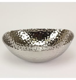 Pampa Bay Pampa Bay Oval Hammered Silver Bowl CER-2018