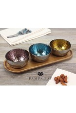 Pampa Bay Pampa Bay 3 Color Dip Bowl Set with Tray WB-012
