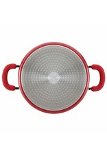 Rachael Ray 6 QT Aluminum Covered Stockpot, Red Shimmer