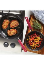 "11.75"" Rachael Ray Hard-Anodized Aluminum Nonstick Deep Skillet , Red Handles"