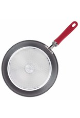 "9.5"" Rachael Ray Hard-Anodized Aluminum Nonstick Deep Skillet , Red Handles"
