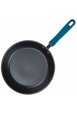"11.75"" Rachael Ray Hard Anodized Aluminum Skillet, Gray with Teal Handles"