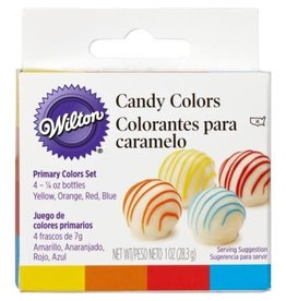 Wilton Wilton  Candy Colors, Yellow, Orange, Red, Blue