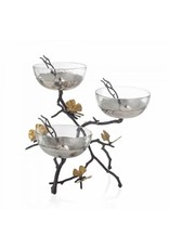 Butterfly Ginkgo Triple Bowl Set with Spoons