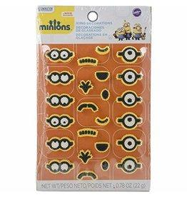 Wilton Wilton 710-4600 24 Count Despicable Me Minions Icing Decorations, Multicolor
