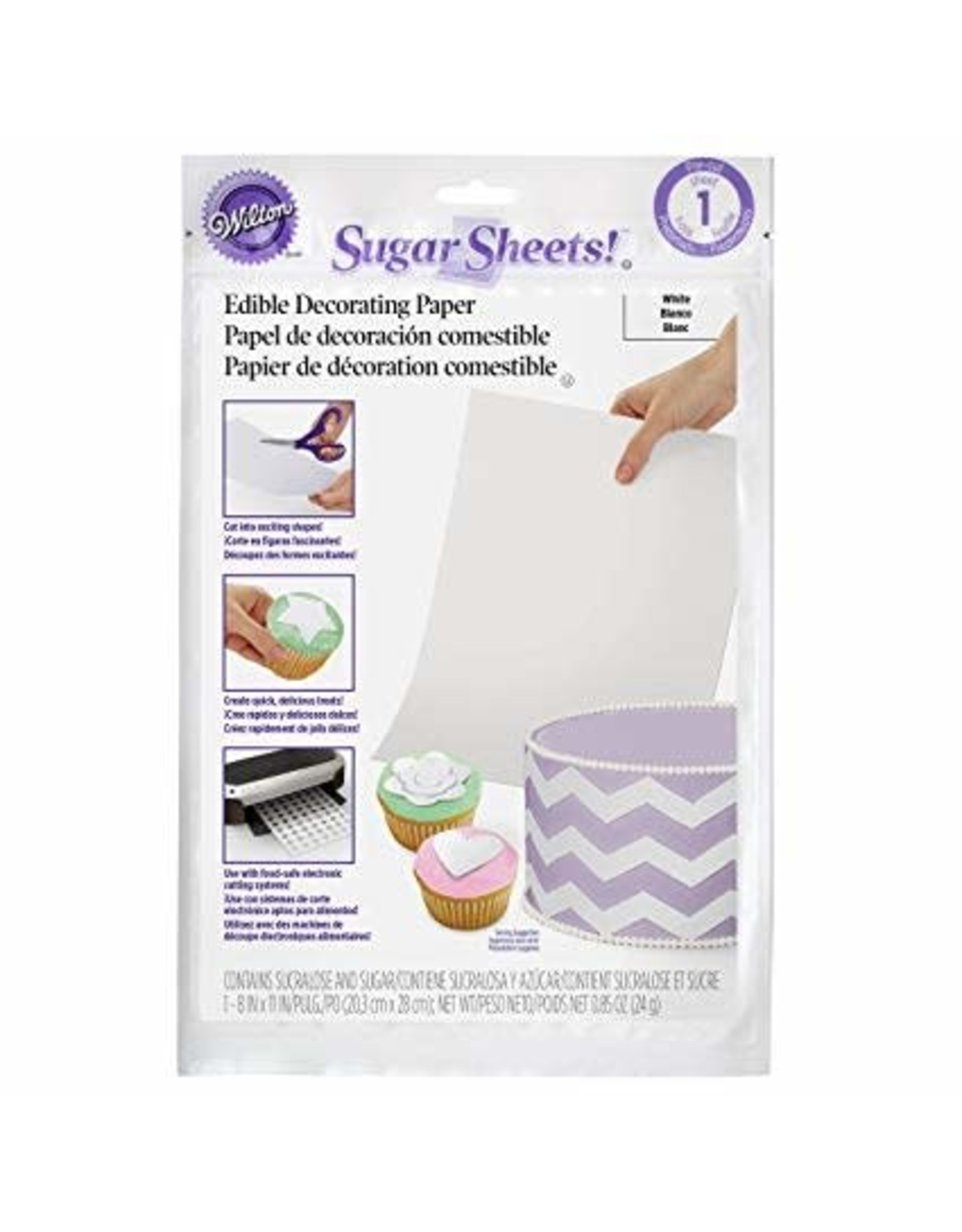 Wilton Wilton White Sugar Sheets Edible Decorating Paper - 0.85 oz.
