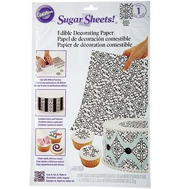 Wilton Wilton Sugar Sheet, Black and White Damask