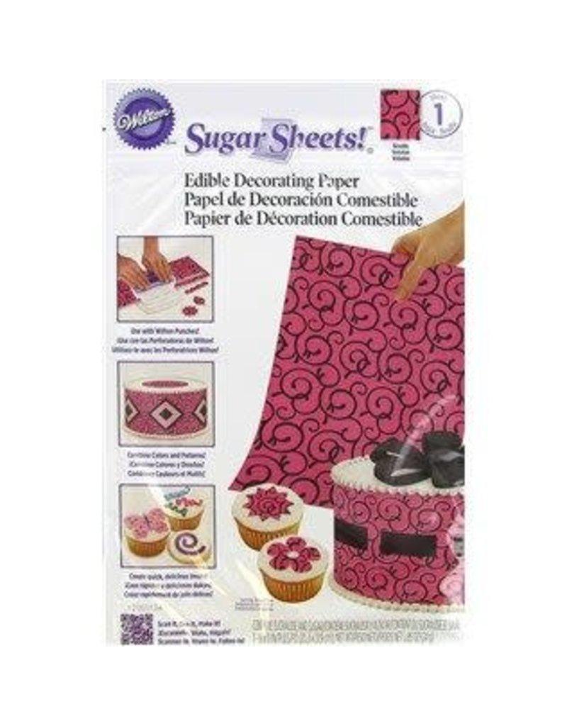 Wilton Wilton Pink/Black Scrolls Sugar Sheet