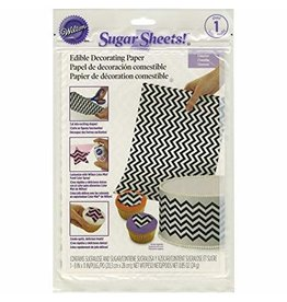Wilton Wilton 710-2921 Black and White Chevron Sugar Sheets, 8 by 11-Inch