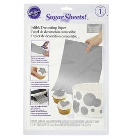 Wilton Wilton Silver Sugar Sheets Edible Decorating Paper, 0.85 oz