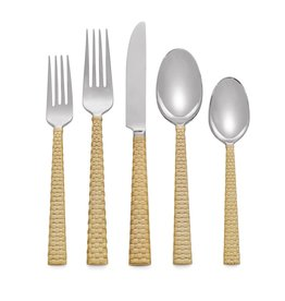 Palm Gold 5-Piece Flatware Set